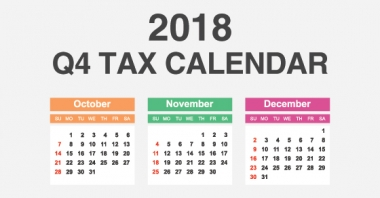 Here Are Some Of The Key Tax Related Deadlines Affecting Businesses And  Other Employers During The Fourth Quarter Of 2018. Keep In Mind That This  List Isnu0027t ...